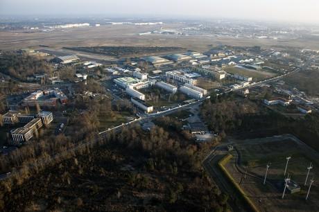 Prise de vue aérienne.Le 22 février 2013